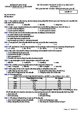 Đề tập huấn thi THPT quốc gia môn: Địa Lí - M