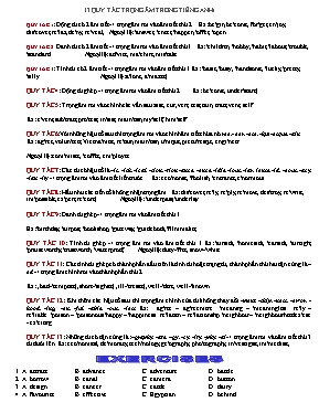 13 quy tắc trọng âm trong Tiếng anh