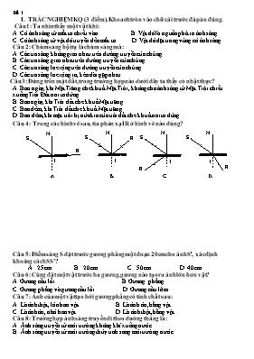 8 Đề thi học kì I môn Vật lí lớp 7