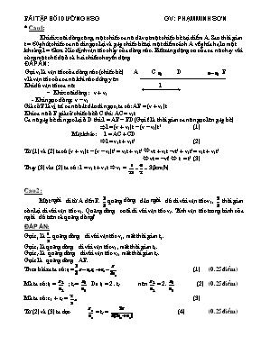 Bài tập bồi dưỡng học sinh giỏi Vật lí lớp 8 - Phạm Minh Sơn