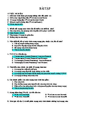 Bài tập Tin học lớp 10 (Kèm đáp án)
