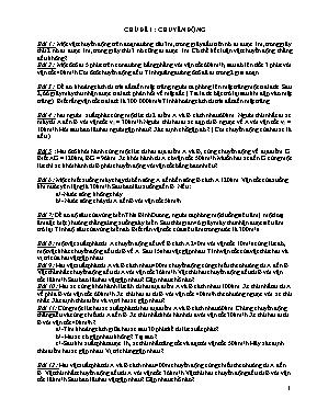 Bài tập tự luận Vật lí lớp 8 (Kèm đáp án)