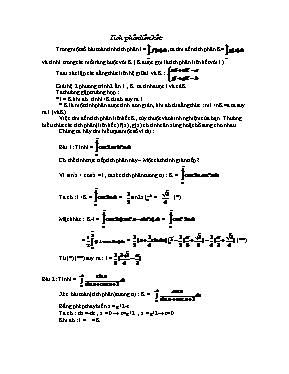 Bài tập về Tích phân liên kết
