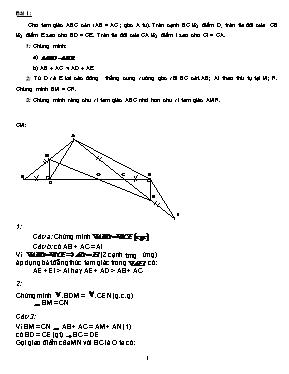 Các bài toán chương 2 Hình học lớp 7 (Kèm đáp