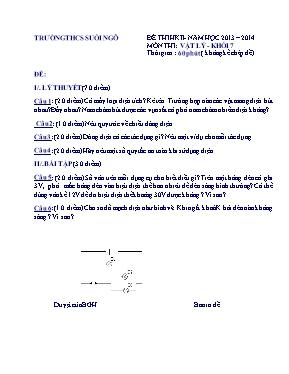 Đề kiểm tra học kì II Vật lí lớp 7 - Năm học