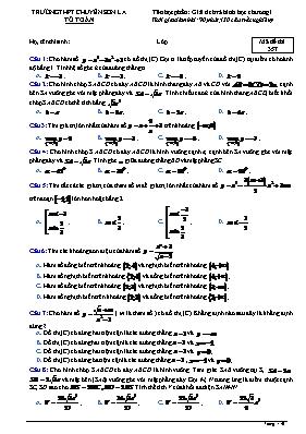 Đề kiểm tra Toán 12 - Mã đề 357 - Trường THPT chuyên Sơn La