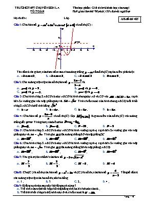 Đề kiểm tra Toán 12 - Mã đề 485 - Trường THPT chuyên Sơn La