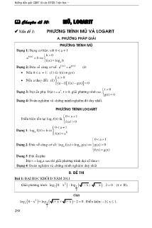 Tổng hợp bài tập về Mũ, logarit Giải tích 12