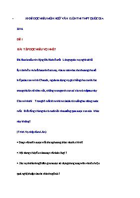 50 Đề đọc hiểu ôn thi THPT quốc gia Ngữ văn 1