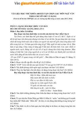 600 Bài tập chọn lọc thi THPT quốc gia môn Ng