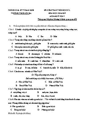 Đề kiểm tra 8 tuần học kì I Ngữ văn lớp 7 - N