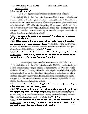 Đề và đáp án kiểm tra bài viết số 5 Ngữ văn l