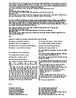 Một số đề đọc hiểu văn bản Ngữ văn lớp 11